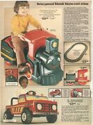 Vintage 1980 Battery Powered Cars Train Ride On Toys Catalog Ad Clipping