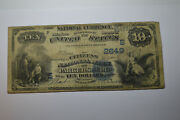 Parkersburg, Wv - 10 1882 Date Back- The Citizens National Bank Ch. S2649