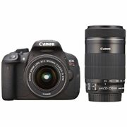 Near Mint Canon Eos Kiss X7i With 18-55mm Stm + 55-250mm Is Stm 1 Year Warranty