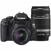 Near Mint Canon Eos Kiss X5 With 18-55mm Is And 55-200mm Is - 1 Year Warranty