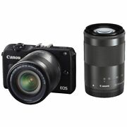 Near Mint Canon Eos M2 With 18-55mm Is Stm + 55-200mm Is Stm - 1 Year Warranty