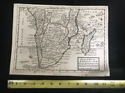 Antique South Africa And Madagascar. Map H. Moll, 1725. Extremely Rare.