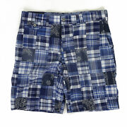 Polo Classic Fit 9 Patchwork Patch Shorts Short Pants - Blue Navy