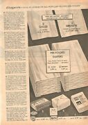 Vintage 1966 Catalog Page Birdseye Pre- Folded Cloth Diapers For Baby Print Ad