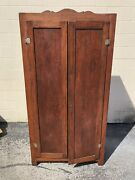 Vintage Country Pantry Cupboard In Old Red