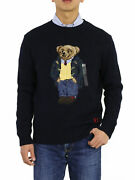 Polo Crew Polo Bear Sweaters Navy Men's Sizes, Big And Tall Sizes