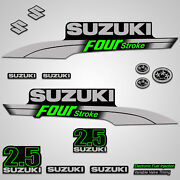 Outboard Engine Graphics Kit Sticker Decal For Suzuki 2.5 Hp Green