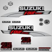 Outboard Engine Graphics Kit Sticker Decal For Suzuki 2.5 Hp Red