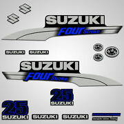 Outboard Engine Graphics Kit Sticker Decal For Suzuki 25 Hp Blue