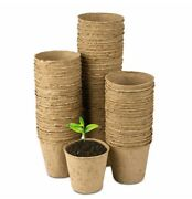 Jiffy 3 Inch Round Peat Pots, 50 Each, Seed Starting, Growing Supplies