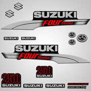 Outboard Engine Graphics Kit Sticker Decal For Suzuki 250 Hp Red