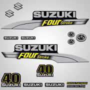 Outboard Engine Graphics Kit Sticker Decal For Suzuki 40 Hp Yellow