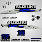Outboard Engine Graphics Kit Sticker Decal For Suzuki 115 Hp Blue