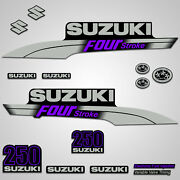 Outboard Engine Graphics Kit Sticker Decal For Suzuki 250 Hp Purple