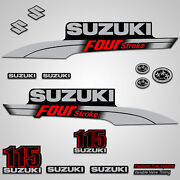 Outboard Engine Graphics Kit Sticker Decal For Suzuki 115 Hp Red