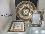 Versace Rosenthal I Love Baroque Set Plate 33 Cm+ Dish 22x22 Cm+picture Frame