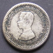 A. D. 1908rs 127---siam King Rama V--silver Coin--one Fuang---16 Mm.