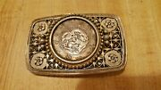 Beautiful Collectible Antique Japan Year 1870 Silver Yen Rare Coin Belt Buckle