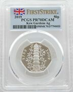 2019/2009 Kew Gardens 50p Fifty Pence Silver Proof Coin Pcgs Pr70 First Strike