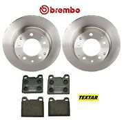 For Porsche 911 1969-1983 Rear Brake Kit Vented Disc Rotors Brembo And Textar Pads