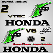 Outboard Engine Graphics Kit Sticker Decal For Honda 2 Hp Green