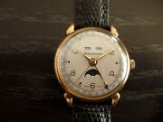 Henri Duvoisin Triple Calendar With Moonphase In 18 Kt Gold Hard To Find .