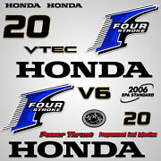 Outboard Engine Graphics Kit Sticker Decal For Honda 20 Hp Blue