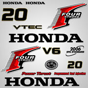 Outboard Engine Graphics Kit Sticker Decal For Honda 20 Hp Red