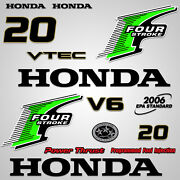 Outboard Engine Graphics Kit Sticker Decal For Honda 20 Hp Green