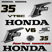 Outboard Engine Graphics Kit Sticker Decal For Honda 35 Hp Black