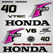 Outboard Engine Graphics Kit Sticker Decal For Honda 40 Hp Pink