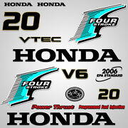 Outboard Engine Graphics Kit Sticker Decal For Honda 20 Hp Teal