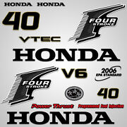 Outboard Engine Graphics Kit Sticker Decal For Honda 40 Hp Black