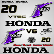 Outboard Engine Graphics Kit Sticker Decal For Honda 20 Hp Purple