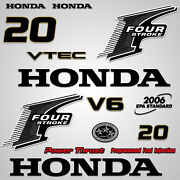 Outboard Engine Graphics Kit Sticker Decal For Honda 20 Hp Black