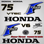Outboard Engine Graphics Kit Sticker Decal For Honda 75 Hp Blue