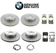 Genuine Front And Rear Disc Brake Rotors Pads And Sensors Kit For Bmw F30 335i
