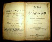 1904 Antique Lutheran Bible Gothic Text Hardcover Book Berlin Germany
