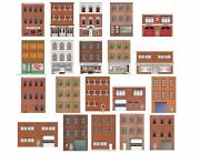 Oo Scale Flat Front Buildings For Model Trains - 20 Total Front And Rear Sides
