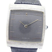 Corum Cal.82043 Buckingham Watches K18 White Gold/leather Mens Graydial
