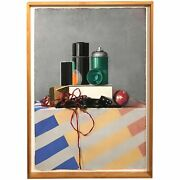 Elizabeth Johansson Pastel Painting Modern Still Life With Spray Paint Cans