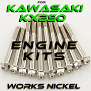Engine Bolt Kit For Kawasaki Kx250   Works Nickel   Perfect For Your Restoration