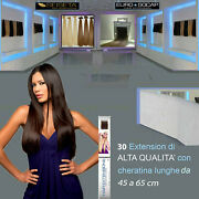 Euro Socap Hair Extension 30 A 100 Streaks With Keratin Long 45/65 Cm Remy