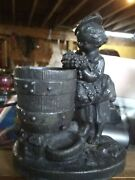 Figural Late 19th Century Pot Metal Toothpick Or Pen Holder