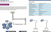 Led Surgical Twin Ceiling Ot Light Multi Color With Memory Function Ct 5