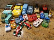 Lot Of 23 Disney Pixar Cars Planes Diecast Vehicles Lot Race Cars, Helicopter