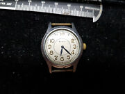 Elgin Sportsman Vintage Blue Hand Watch Runs Fast For You To Fix Or Parts