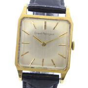 Girard-perregaux Vintage Watches K18 Yellow Gold/leather Mens Golddial