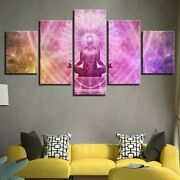 Lord Meditation Shadow 5 Pcs Canvas Wall Art Print Picture Poster Home Decor
