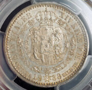 1838 Hannover Ernest August I. Silver Thaler Coin. Small Head Type Pcgs Au58